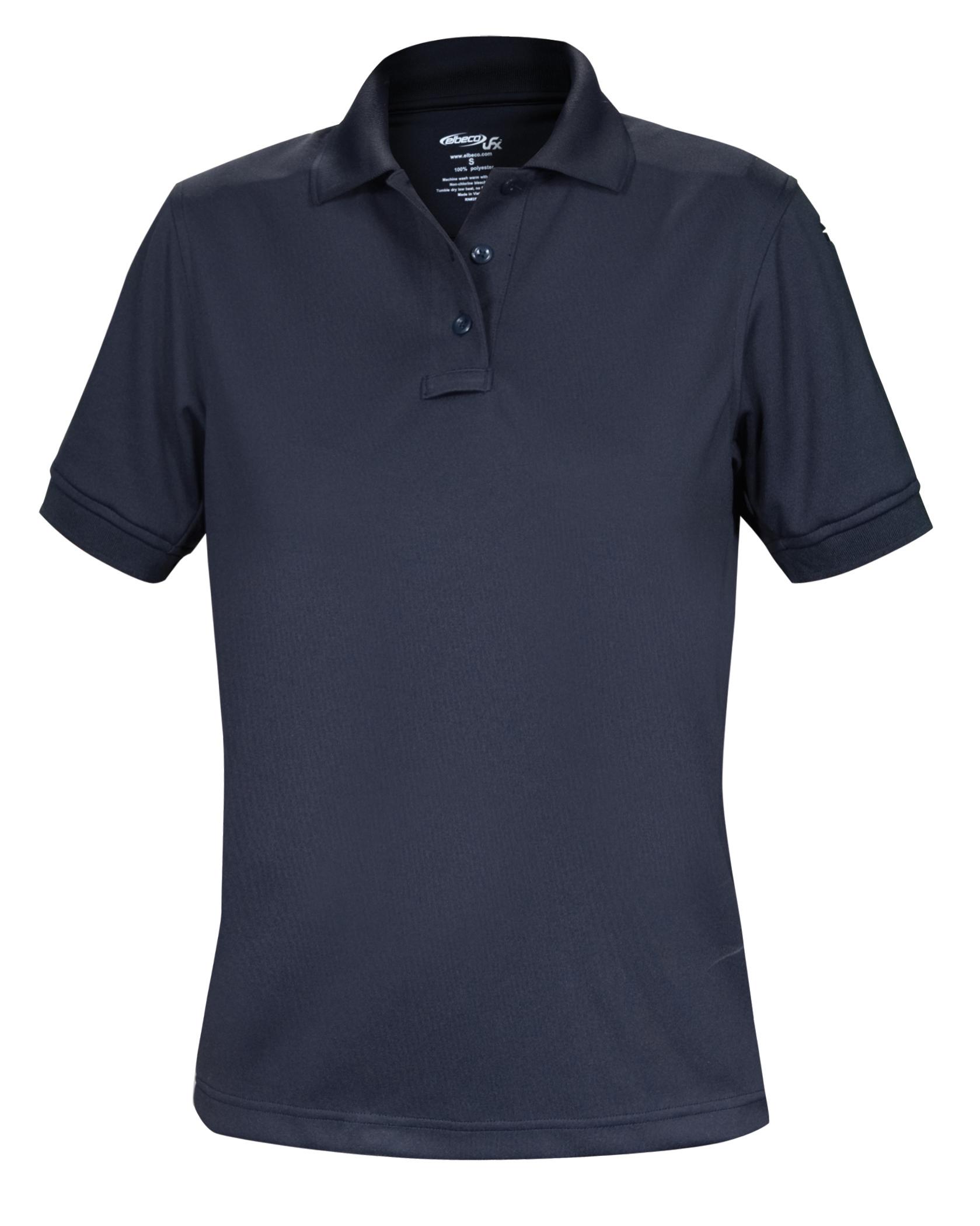 9192b1a46 Elbeco Women's Short Sleeve Ladies Cut UFX Tactical Polo Shirt: Midnight  Navy 2XLarge