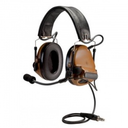 3mtm-peltortm-comtactm-ach-communication-headset-mt17h682fb-49-cy-dual-comm-single-downlead-flexi-boom-mic-coyote-brown-1-ea-case-c11